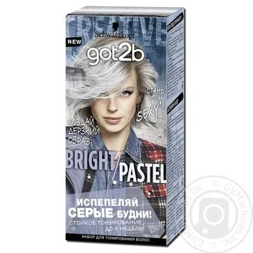 Тонуюча фарба для волосся got2b Farb Artist 098 Сріблястий Металік 80мл - купити, ціни на Ашан - фото 1