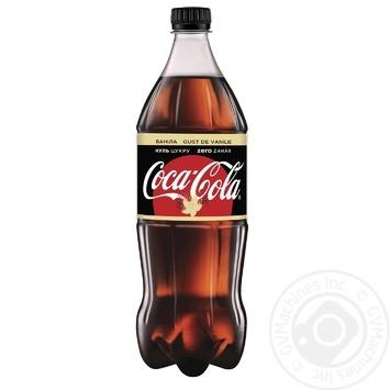 Напиток Coca-Cola Zero Ванила безалкогольный сильногазированный низкокалорийный 1л - купить, цены на Novus - фото 1