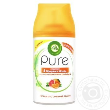 AirWick Pure Orange and Grapefruit air freshener replacement balloon 250ml - buy, prices for MegaMarket - image 1