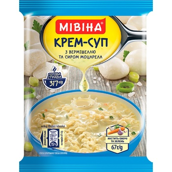 MIVINA® cream soup with instant noodles and cheese 67g - buy, prices for MegaMarket - image 1