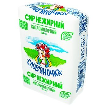 Slovianochka Cottage Cheese Low-fat 0% 202g