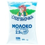 Молоко Словяночка пастеризованное 2,5% 870г