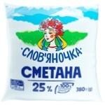 Slovianochka Sour Cream 25% 380g