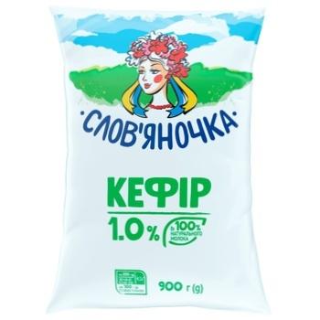 Кефір Слов'яночка 1% 900г - купити, ціни на Ашан - фото 1