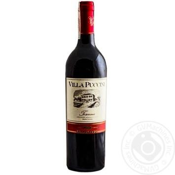 Вино Villa Puccini Toscano Rosso IGT красное сухое 12% 0,75л