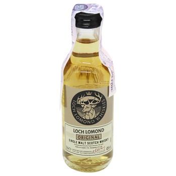 Віскі Loch Lomond Original 40% 0,05л - купити, ціни на МегаМаркет - фото 1