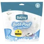 Мочалка с кусочками мыла Balmy Naturel Белое мыло - купить, цены на МегаМаркет - фото 1