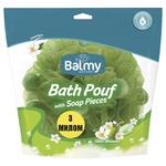 Мочалка с кусочками мыла Balmy Naturel Оливковый цвет - купить, цены на МегаМаркет - фото 1