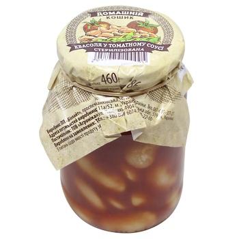 Фасоль Домашний Кошик в томатном соусе 460г