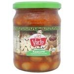 Фасоль Varto с грибами в томатном соусе стерилизованная 500г