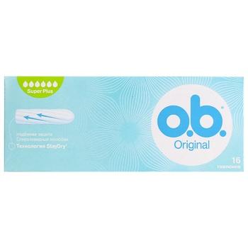 O.B. Original Super Plus Tampons 16pcs - buy, prices for Novus - image 1