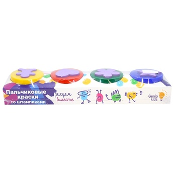 Genio Kids Finger Paints with Stamps Set for Creativity in assortment - buy, prices for CityMarket - photo 2