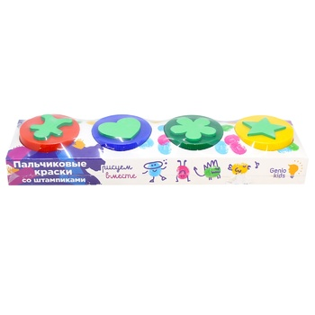 Genio Kids Finger Paints with Stamps Set for Creativity in assortment - buy, prices for CityMarket - photo 1