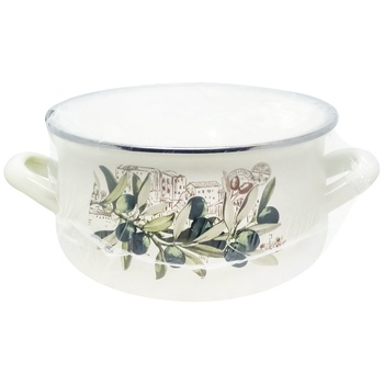 Infinity Olive Enamelled Pan with Cap 1,8l - buy, prices for CityMarket - photo 2