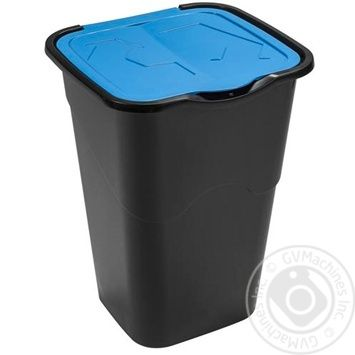 Ведро для мусора Heidrun с крышкой квадратное 50л в ассортименте