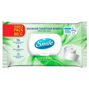 Влажная туалетная бумага Smile Family 80шт