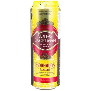 Пиво Volfas Engelman Bohemijos Dark темне 4.2% 0,568л ж/б