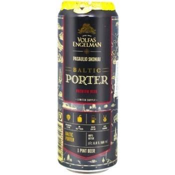 Пиво Volfas Engelman Baltic Porter темное фильтрованное 6% 0,568л