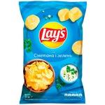 Чипси Lay's зі смаком сметани та зелені 25г
