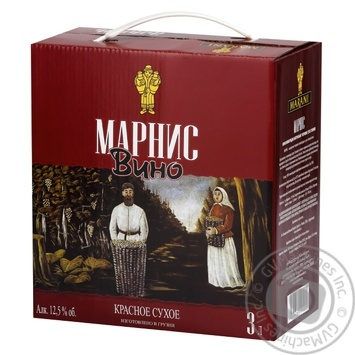 Marani Marnis red dry wine 12,5% 3l - buy, prices for MegaMarket - image 1