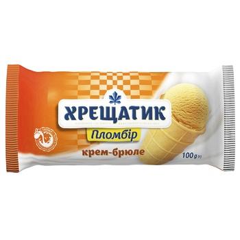 Морозиво Хрещатик пломбір крем-брюле 100г - купити, ціни на Метро - фото 1