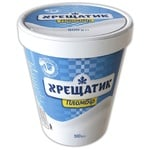 Морозиво Хрещатик пломбір 15% 500г картонний стакан