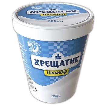 Khreshchatyk Plombir Ice-Cream 15% 500g Paper Cup