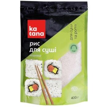 Рис Katana для приготовления суши круглозернистый Японика 400г