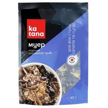 Муэр черный древесный гриб Katana сушеный 40г