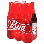 Пиво Bud светлое 5% 6*0,5л стекло