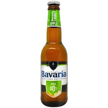 Пиво Bavaria Apple безалкогольное 0,33л
