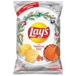 Lay's Red Caviar Flavored Potato Chips 120g - buy, prices for Auchan - photo 1