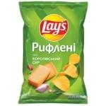 Чіпси Lay's картопляні зі смаком королівського сиру рифлені 133г