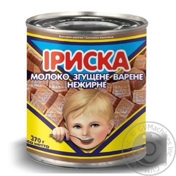 Молоко Первомайський молочноконсервний комбінат Іриска згущене варене нежирне 8,5% 370г - купити, ціни на Novus - фото 1