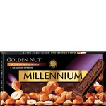 Millennium Golden Nut Black Chocolate with Whole Hazelnuts 90g