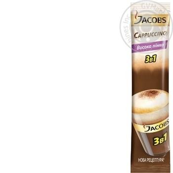 Напиток кофейный Jacobs 3в1 Cappuccino в стиках 12.5г - купить, цены на Фуршет - фото 1