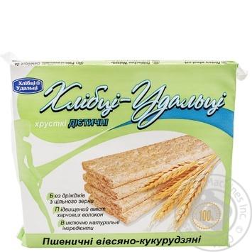 Crispbread Hlebtsy-udal'tsy wheat-oats-corn for diabetics 100g packaged - buy, prices for Furshet - image 1