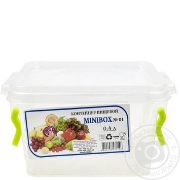 Контейнер пищевой Minibox №1 с крышкой 0,4л - купить, цены на Таврия В - фото 1