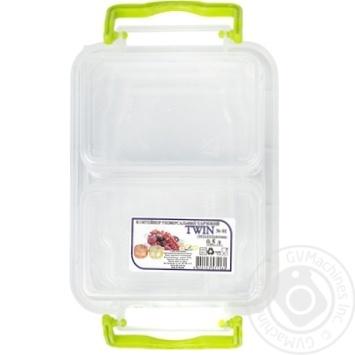Контейнер пищевой Twin двойной с крышкой 162X112X64мм 0,5л - купить, цены на Таврия В - фото 4
