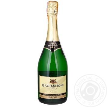 Игристое вино Bagrationi белое полусухое 12% 0,7л - купить, цены на Novus - фото 1