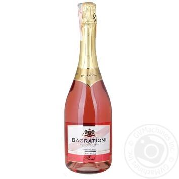 Вино игристое Bagrationi розовое полусладкое 12% 0,75л - купить, цены на МегаМаркет - фото 1
