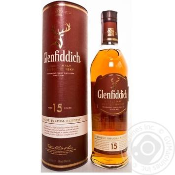 Виски Glenfiddich 15 y.o. в тубусе 0,7л - купить, цены на Novus - фото 1