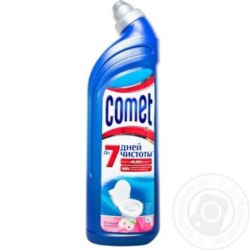 Гель Comet Весенняя свежесть 7 дней чистоты для чистки туалета 750мл - купить, цены на Novus - фото 1