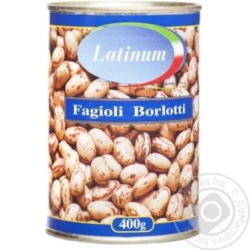 Фасоль Latinum Fagioli Borlotti 400г - купить, цены на Novus - фото 1