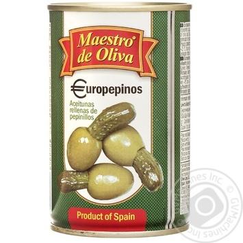 Оливки Maestro de Ol.фаршировані Огірок 300мл - купити, ціни на Novus - фото 1