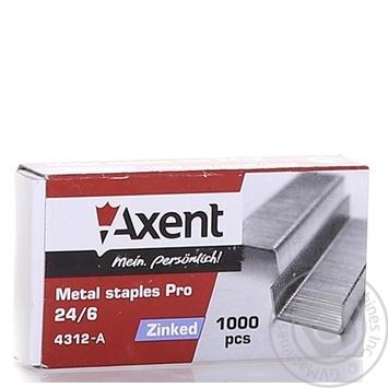 Скоби Axent PRO 24/6 1000шт - купити, ціни на Метро - фото 4