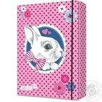 Папка для зошитів Kite канцелярія В5 на гумці картон,Cute Bunny