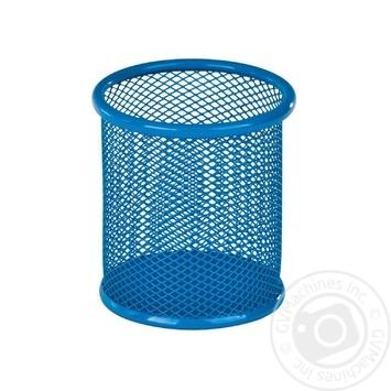 Подставка Kite для ручек круглая 80х80х100мм голубая