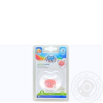 Пустушка Canpol babies силіконова кругла 18міс+ - купити, ціни на МегаМаркет - фото 1