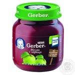 Пюре Гербер яблоко и черника без крахмала и сахара для детей с 5 месяцев 130г